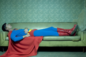 Superman on couch